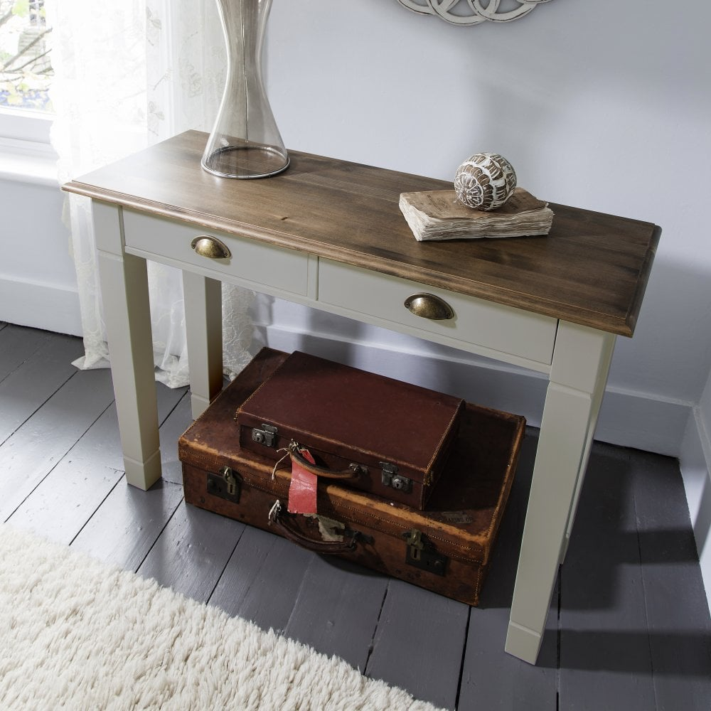 Exceptionnel Console Table Canterbury In Silk Grey And Dark Pine