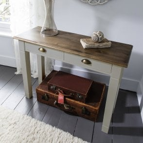 Console Table Canterbury In Silk Grey And Dark Pine