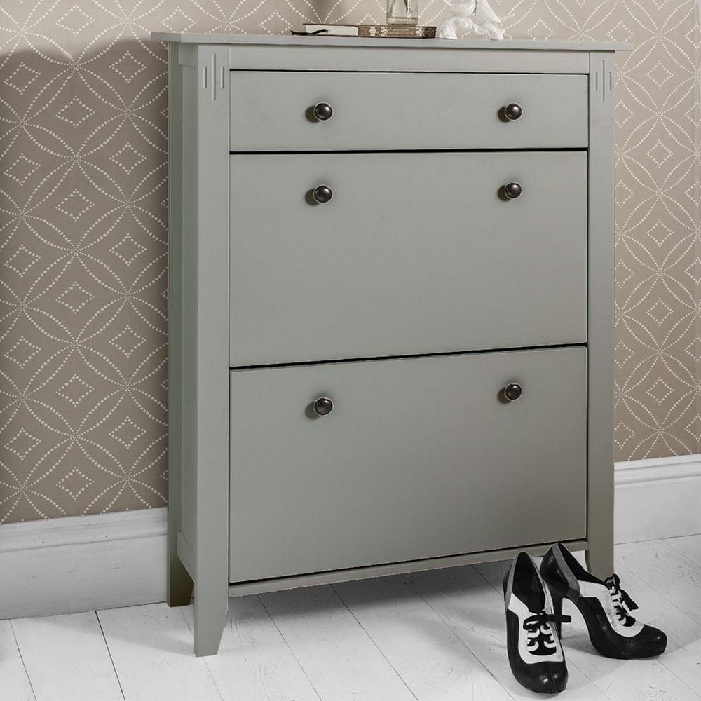 Cotswold Shoe Storage Unit In Grey Shoe Cabinet Noa An Nani