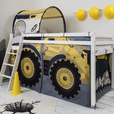 Digger Design Cabin Bed with Ladder and Tent