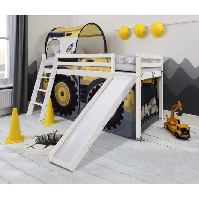 Digger Design Cabin Bed with Slide and Tent