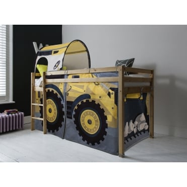 Digger Design Finn Cabin Bed with Straight Ladder and Tent