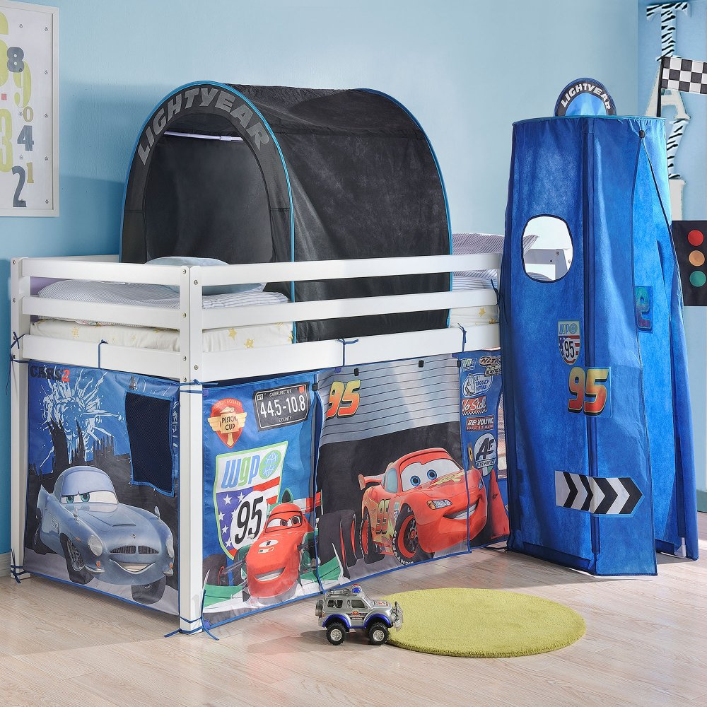 Disney Cars Mid Sleeper Cabin Bed Tent & Tent for Midsleeper Cabin Bed