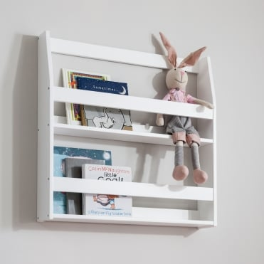 Display Shelf Bookcase Wall mounted in White