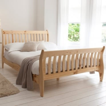 Double Deluxe Oxford Bed in Pine