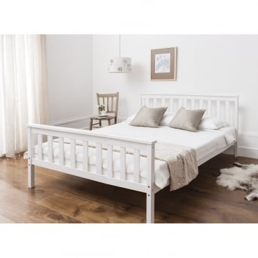 Double Dorset Bed in White