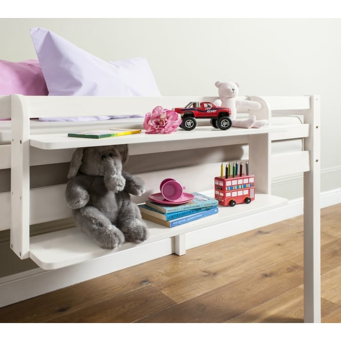 Double Shelf for Cabin or Bunk Beds in White
