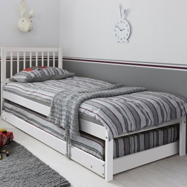 Elsa Day Bed with Trundle pull out Underbed White
