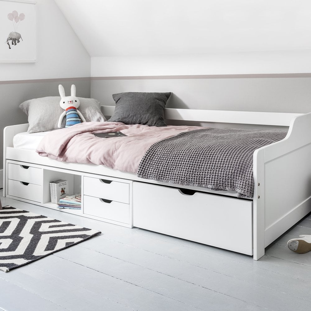 - Eva Day Bed Cabin With Pull Out Drawers Noa & Nani