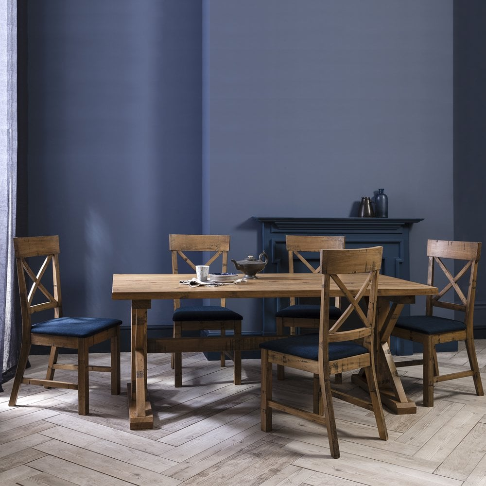 Groovy Faversham Dining Table With 6 Chairs In Dark Pine Onthecornerstone Fun Painted Chair Ideas Images Onthecornerstoneorg