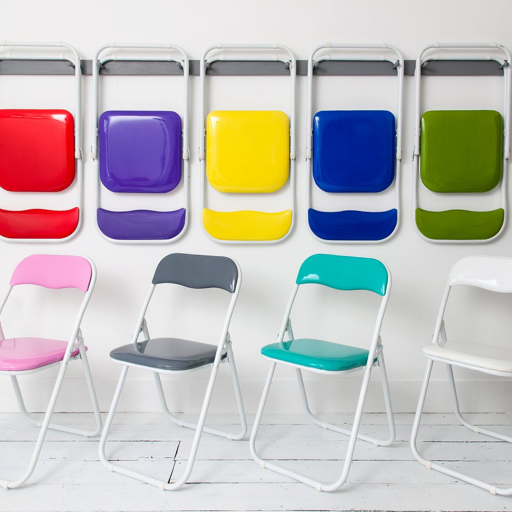 Elegant Folding Chair In Choice Of Funky Colours