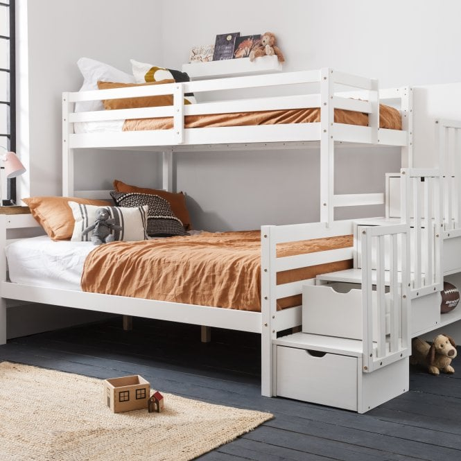 Freddie Cabin bed with Built-in Storage in Classic White