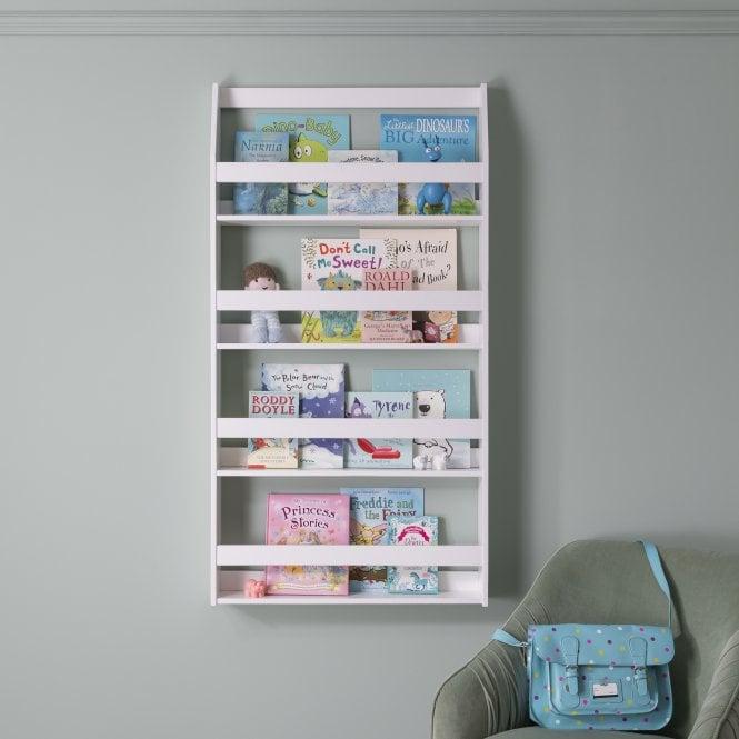 Hakan Display 4 Shelf Bookcase Wall Mounted in Silk Grey