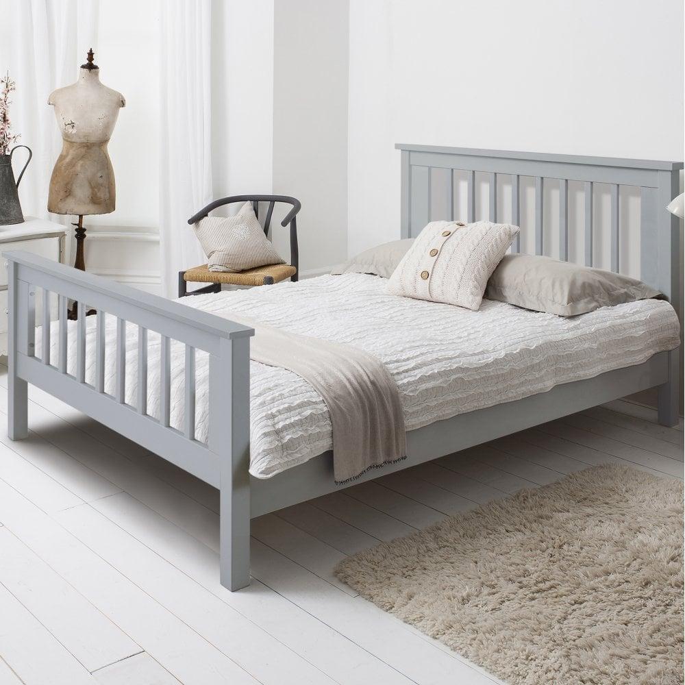 buy popular 8b5dd 7c3da Hampshire Double Bed Frame In Grey