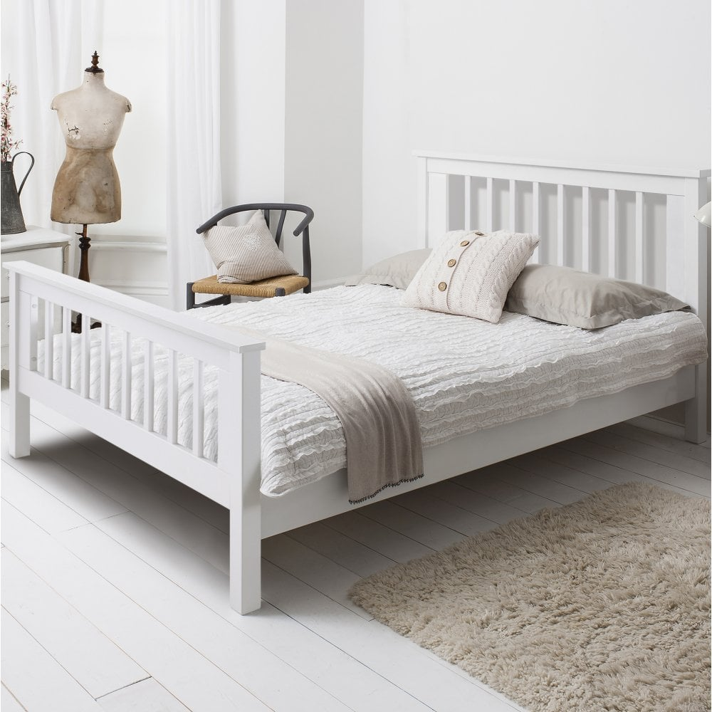 Hampshire Double Bed Frame In White