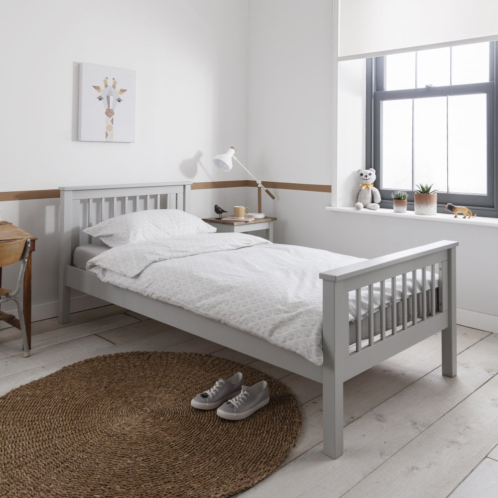 hampshire single bed frame in silk grey single beds from. Black Bedroom Furniture Sets. Home Design Ideas