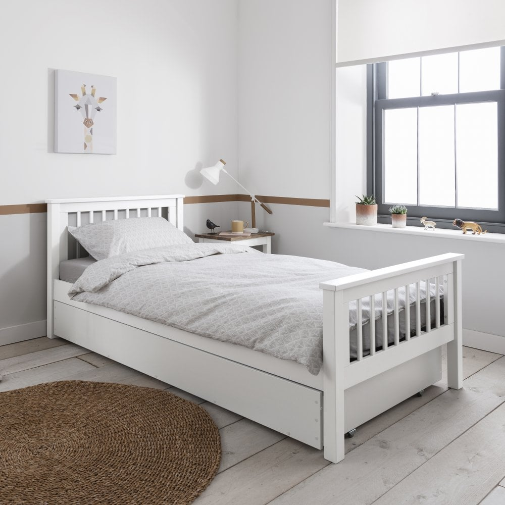 Hampshire Single Bed Frame In White Single Beds From Noa