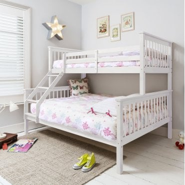 Hanna Triple Bed Bunk Bed in White