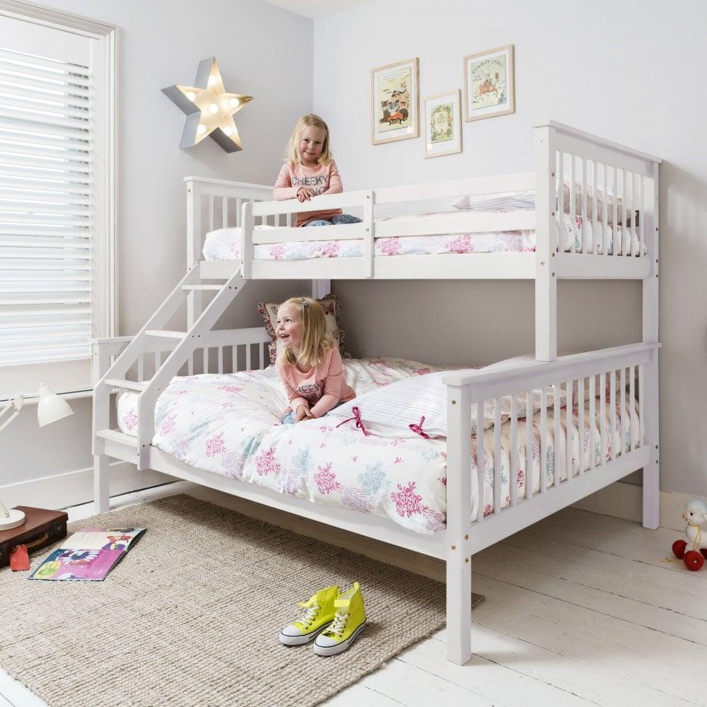 Hanna Triple Bed Bunk Bed In White Noa Nani
