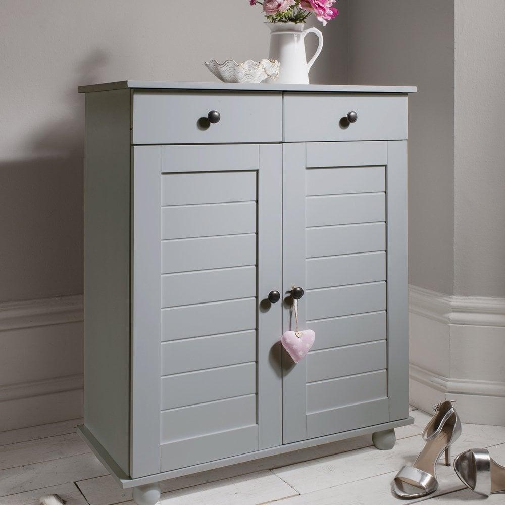 Heathfield Shoe Storage Unit In Silk Grey Shoe Cabinet