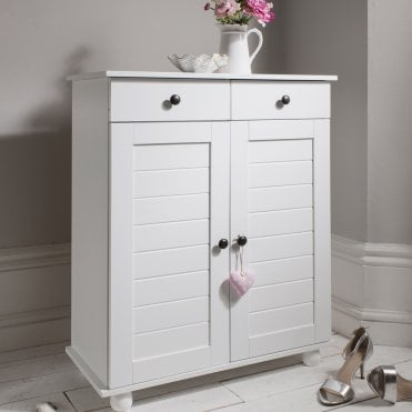 Heathfield Shoe Storage Unit in White Shoe Cabinet