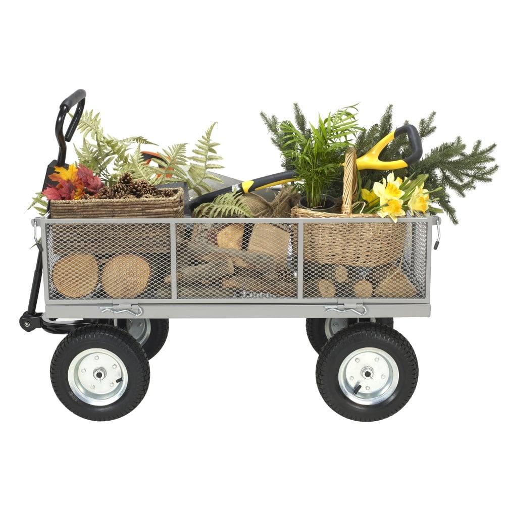 Heavy Duty Garden Cart Wagon Trolley