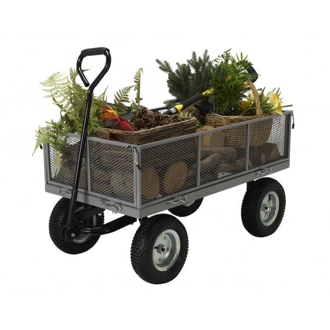 Heavy Duty Garden Cart Wagon Trolley