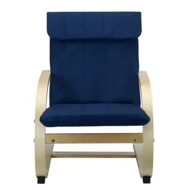 Hedda Kids Lounge Chair in Blue