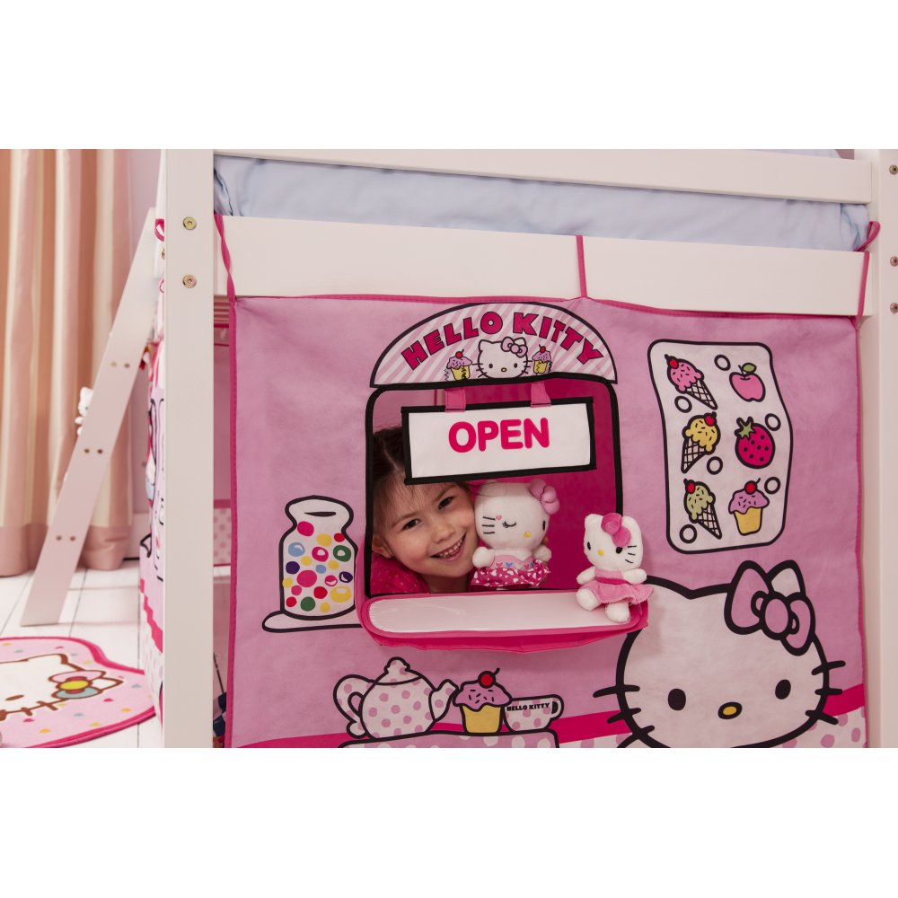 hello kitty mid sleeper cabin bed with tent noa nani. Black Bedroom Furniture Sets. Home Design Ideas