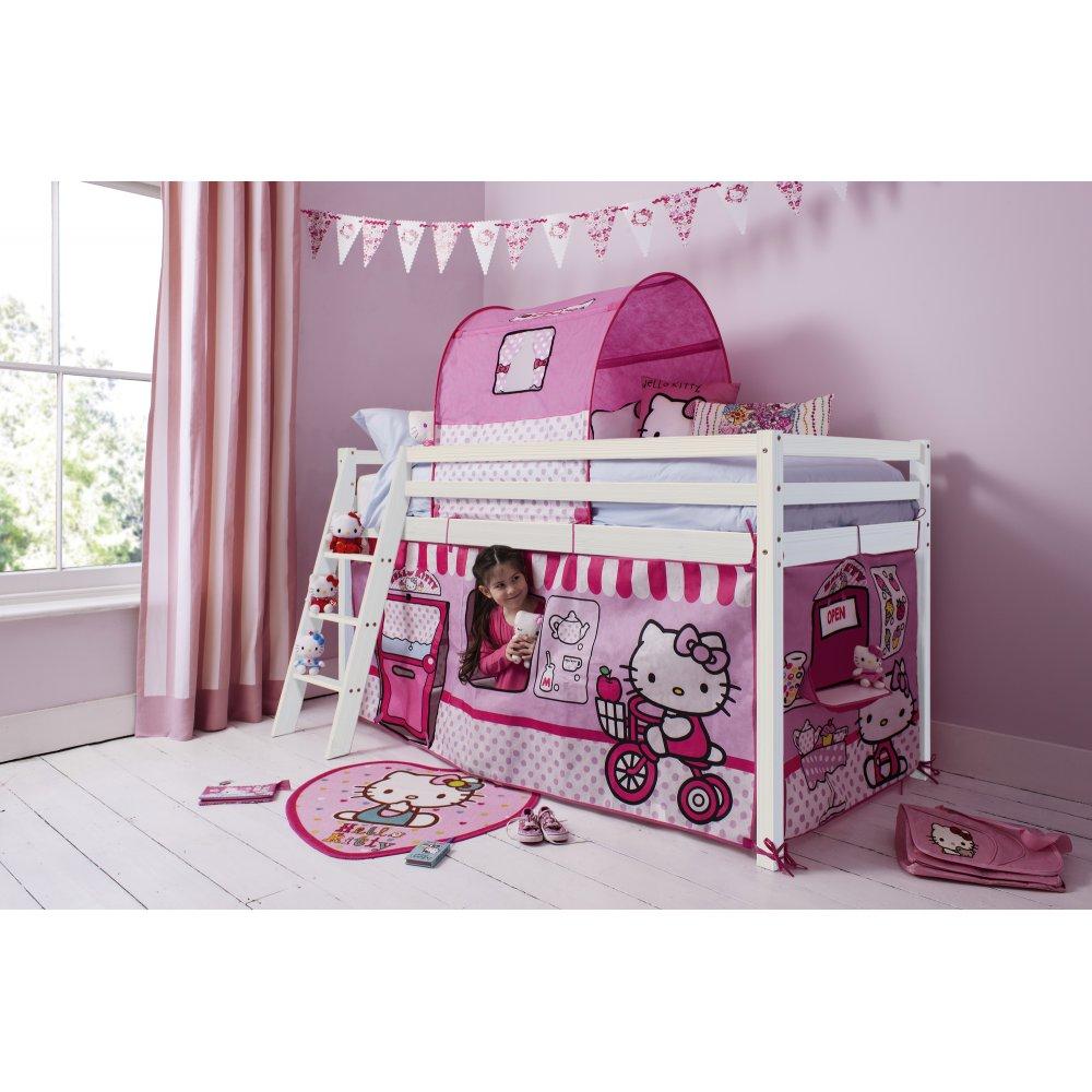 Hello Kitty Mid Sleeper Cabin Bed With Tent Noa Amp Nani