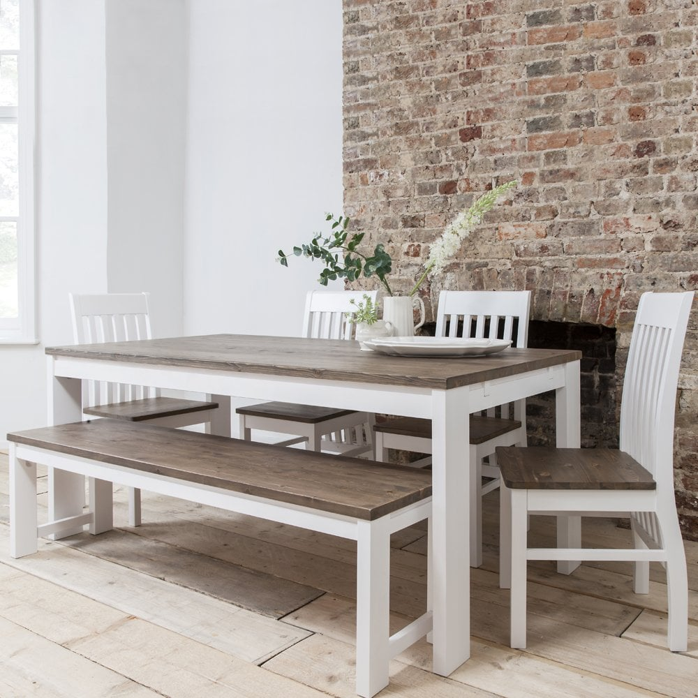 Hever Dining Table With 5 Chairs Amp Bench 2 Extensions