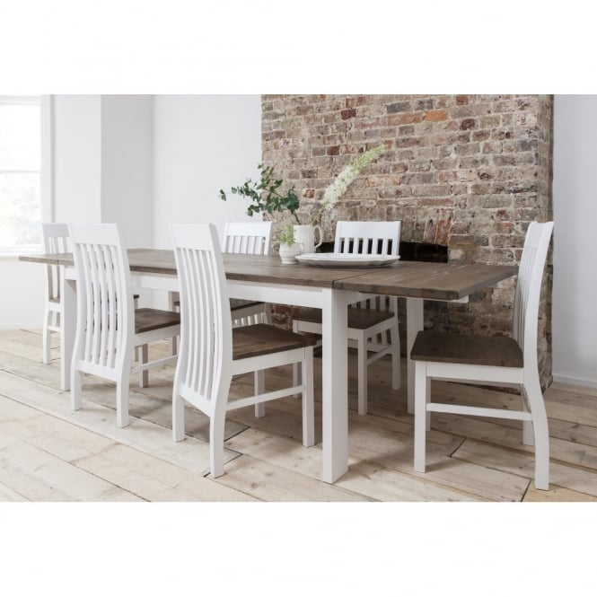 Hever Dining Table with 6 Chairs & 2 Extensions
