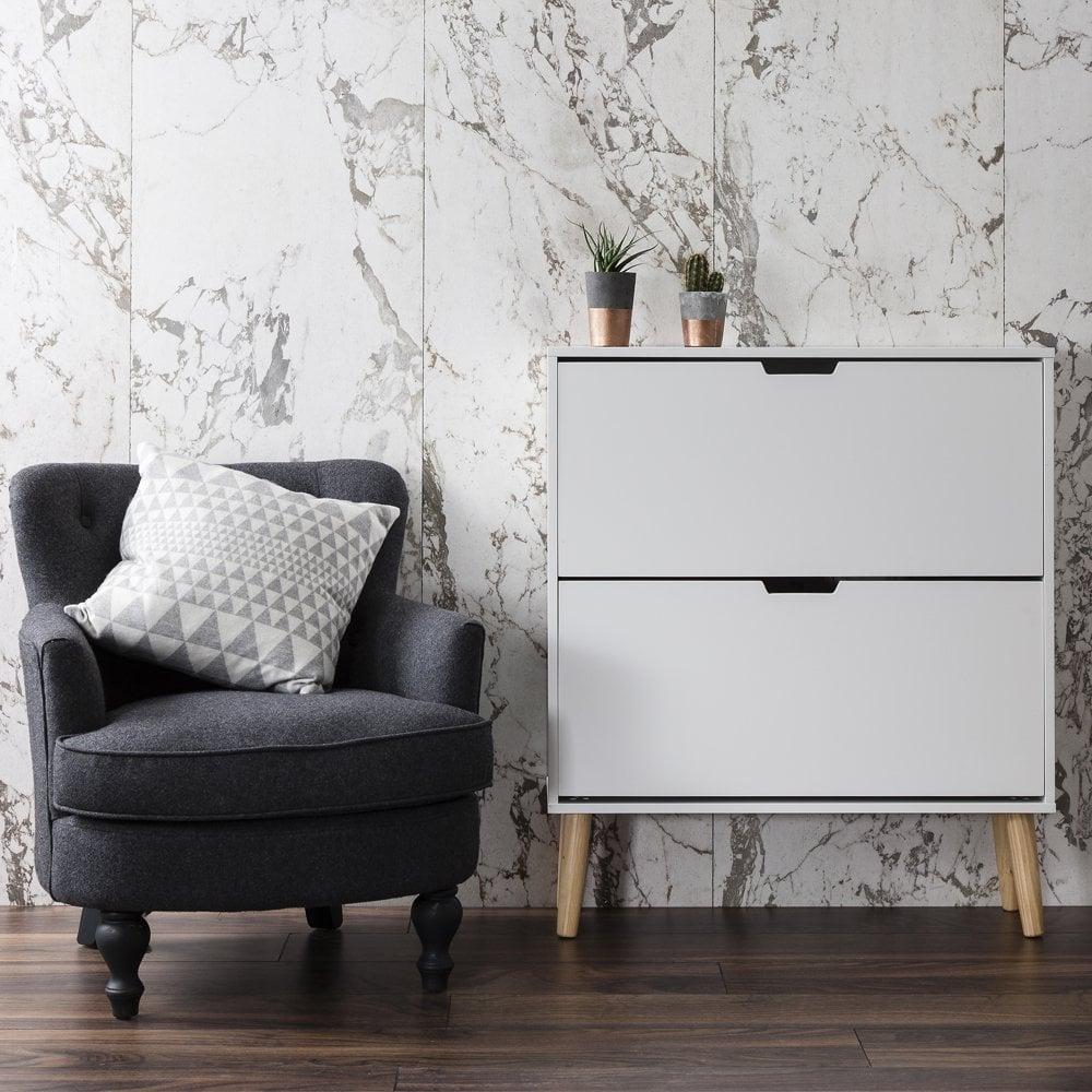 White Pine Cabinets: Huf Shoe Storage Cabinet In White & Pine