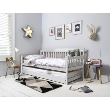 Isabella Day Bed in White with Pull out Trundle