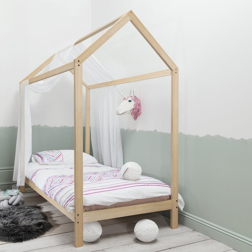 the best attitude cace3 fa320 Jansen Scandinavian Single Bed Frame in Natural Pine