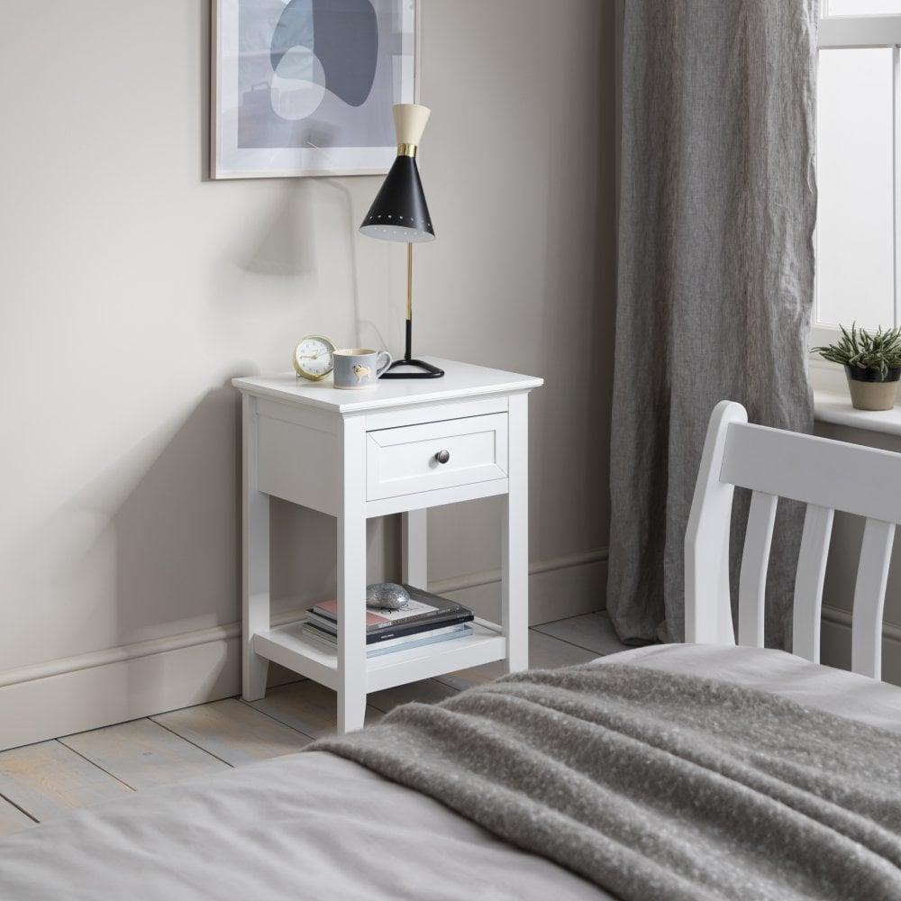 bertel bedside table in white  noa  nani