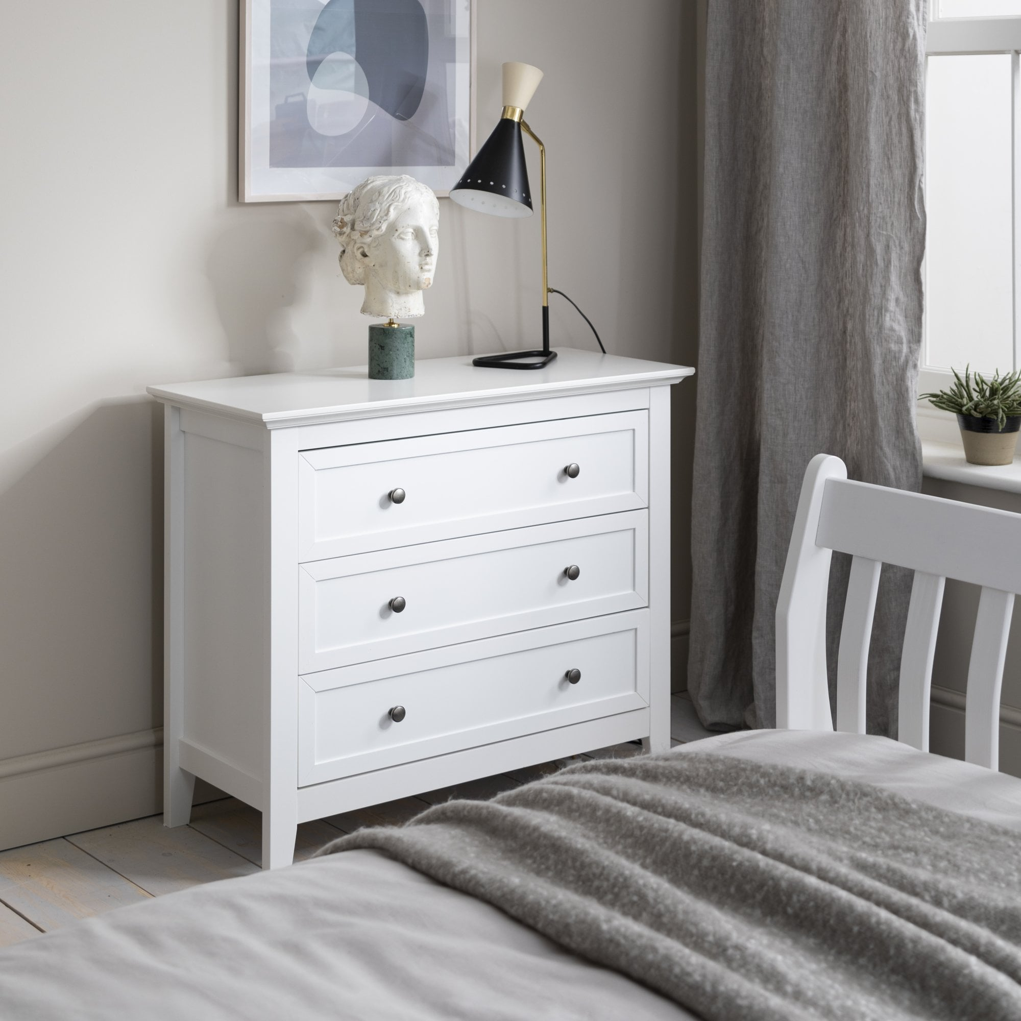 karlstad chest of drawers 3 drawer in classic white