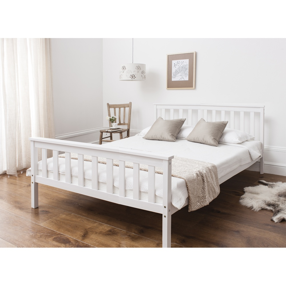 industrial bed size metal ea in raw finish king