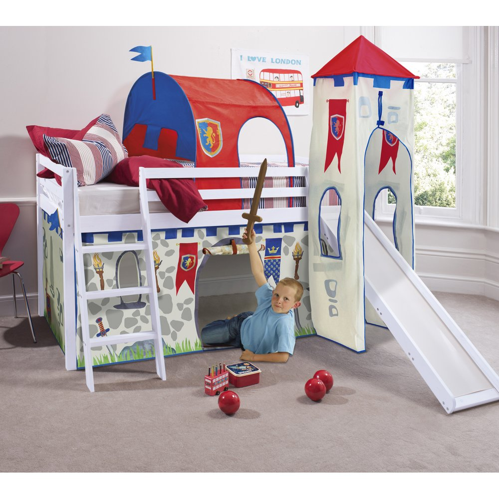 Knights Amp Castles Cabin Bed With Slide Tent Tower
