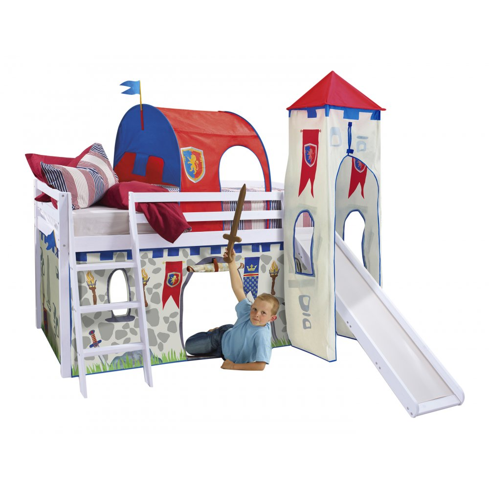 Knights Amp Castles Cabin Bed With Slide Tent Tunnel