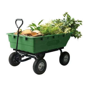 Large Garden Cart with Tipping Trailer