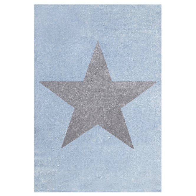 Large Rug with Star in Blue 180cm x 120cm