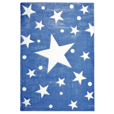 Large Rug with Star in Navy 180cm x 120cm