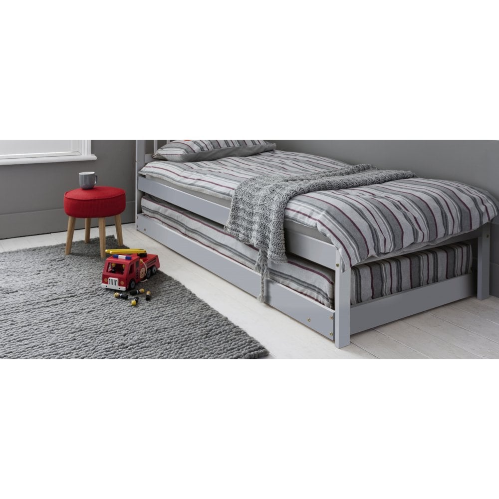 san francisco d440d 26df3 Matheus Pullout Spacesaver Trundle Bed in Grey