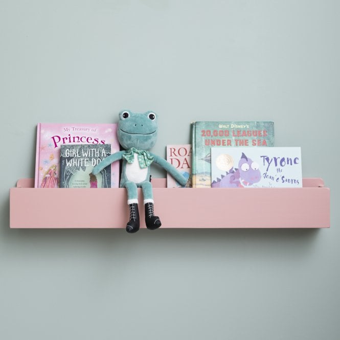 Mia Trough Floating Storage Shelf in White, Grey or Pink