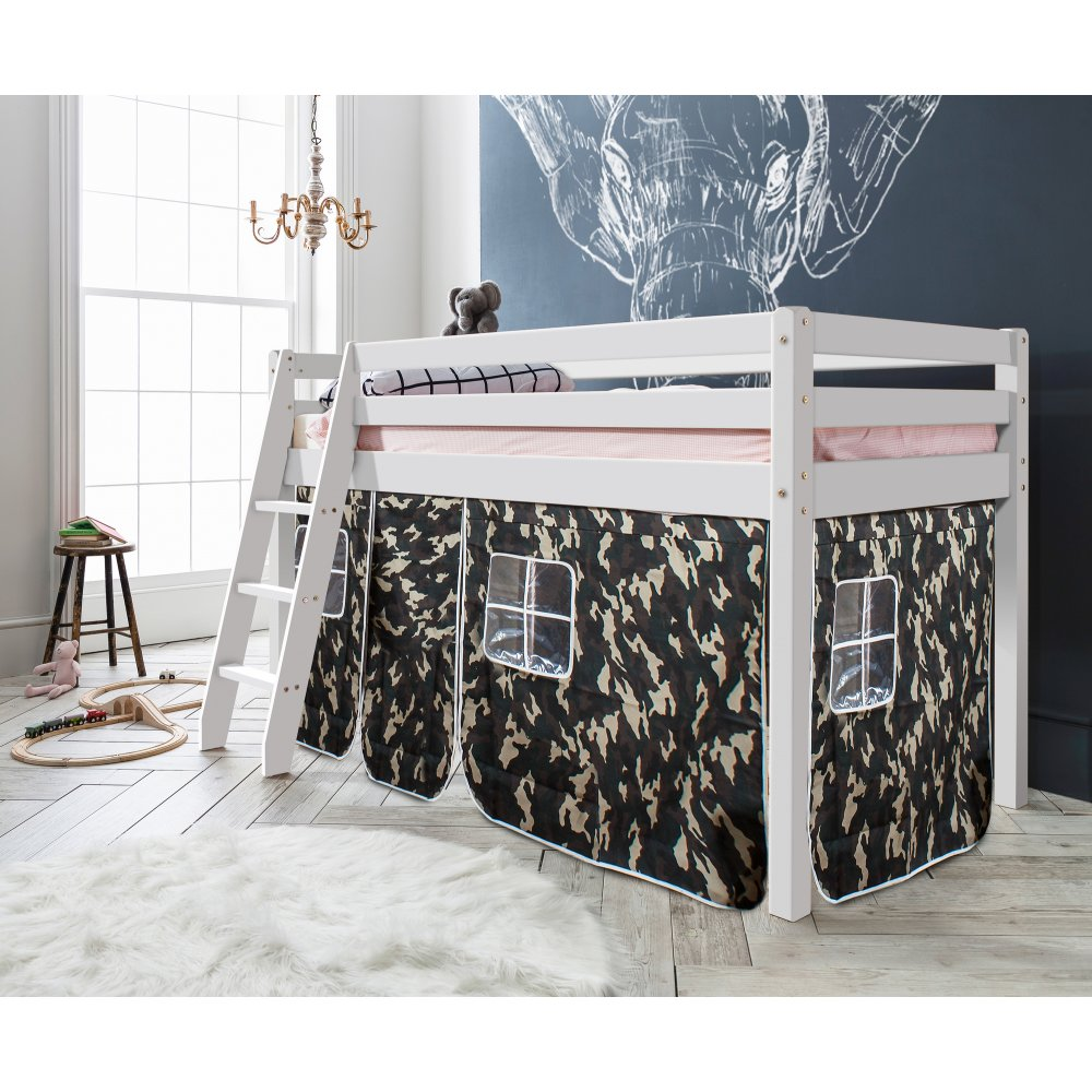 Mid sleeper Cabin Bed with Army Tent | Noa & Nani