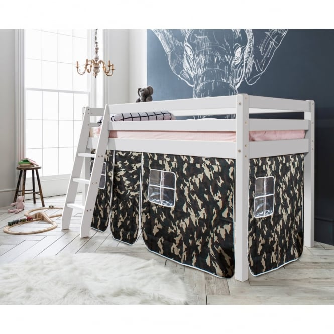 Midsleeper Cabin Bed Thor with Army Tent