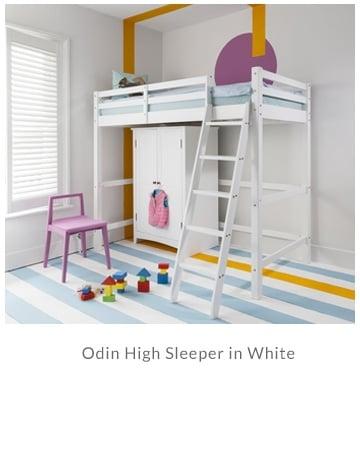 Odin High Sleeper in White