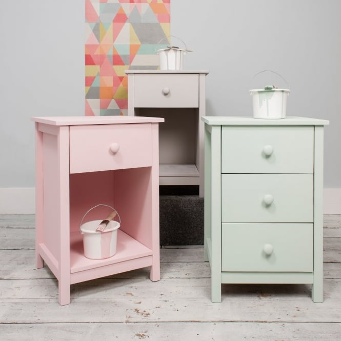 Noa and Nani 1 Drawer Bedside Cabinet Arla in Raw Unpainted
