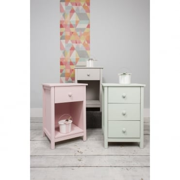Noa and Nani 1 Drawer Bedside Cabinet Arla in White